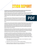 Reflection Report Address Customer Needs (2)