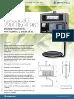 Ficha Tecnica EuroScale 22 RLI Inox 98T