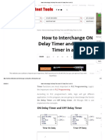How to Interchange on Delay Timer and OFF Delay Timer in a PLC