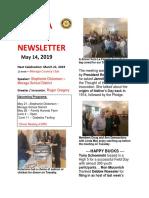 Moraga Rotary Newsletter May 14