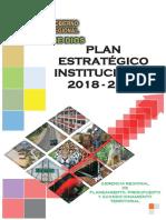 Goremad - Plan Estrategico Institucional 2018-2020