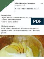 Doce Batata Doce Mandacaru