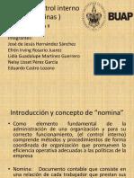 Control Interno Nominas