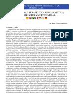 La Comunidad Terapeutica Psicoanalitica de Estructura Multifamiliar