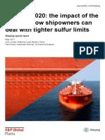 SR Tackling 2020 Imo Impact Shipowners Tighter Sulfur Limits