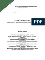7. Políticas y Lineamientos Red CyT Agrícola