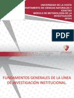 SEMANA3 TEMA1.Fundamentos generales de la l°nea de investigaci¢n institucional.pptx
