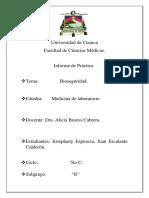 Informe de Práctica de Bioseguridad 5to C.