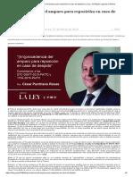 (Im)Procedencia Del Amparo Para Reposición en Caso de Despido