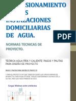 Dimensionamiento de Las Inst. Domicialiaras.