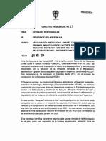 Directiva Presidencial N° 10