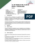PLAN ANUAL DE TRABAJO DEL CLUB DE CIENCIA Y TECNOLOGÍA.docx