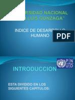 Indice de desarrollo Humano