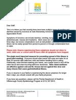 Norovirus Letter - Clark Elementary