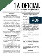Gaceta Oficial 41626 Sumario