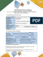 Guia de actividades y rubrica de evaluación - Fase 3 - Diseño y aplicación de la investigación.docx