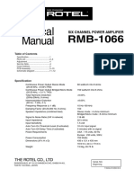 Rotel Rmb-1066 Technical Manual