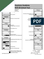 Keystone 2019-20 FINAL Calendar