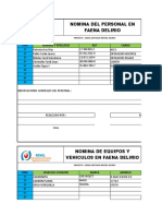 Nomina de Personal y Vehiculos e Equipos