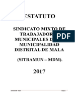 ESTATUTO DEL SINDICATO MIXTO DE LA MUNICIPALIDAD DISTRITAL DE MALA.doc