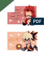 Valentines Day Boku no Hero