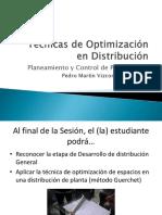 Técnicas de Optimización en Distribución