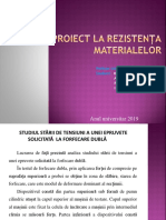 Proiect La Rezistenta