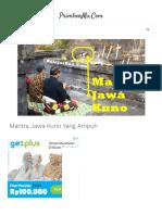 √ Mantra Jawa Kuno Yang Ampuh - Ajian Pemikat, Hindu & Kebal