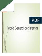 Teoria General de Sistemas - Sesion V