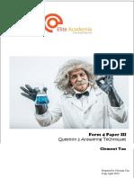 Biology Form 4 Paper III Question II Introduction