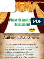 Phase of Authentic Assessment