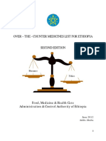 Over the Counter Medicines List for Ethiopia 2nd Edition