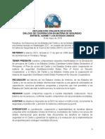 DECLARACIÓN CONJUNTA DE ACCIÓN  DIÁLOGO DE COOPERACIÓN EN MATERIA DE SEGURIDAD  ENTRE EL CARIBE Y LOS ESTADOS UNIDOS  16 de mayo de 2019