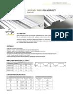 4 Laminas de Acero Colaborante Deck Steel