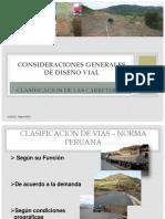 Ua-cons.generales de Diseño Vial, Clasificacion de Vias.
