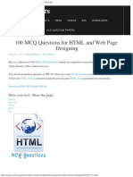 100 MCQ Questions for HTML and Web Page Designing » MCQ Sets