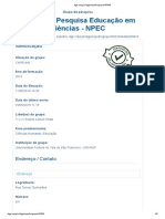 Núcleo de pesquisa educação em ciências - NPEC