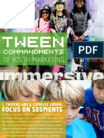 Tween Commandments of Content Youth Marketing