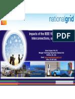 Babak Enayati - Impacts of the IEEE 1547, Standard of DER Interconnections, On Smart Inverters - IPCGRID 2019
