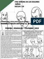 HOJITA EVANGELIO NIÑOS DOMINGO V PASCUA C 19 BN