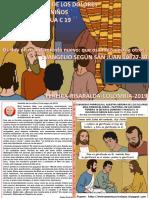 HOJITA EVANGELIO NIÑOS DOMINGO V PASCUA C 19 COLOR