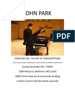 Piano Recital Poster