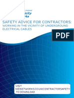 Safety Advice for Contractors Underground Cables