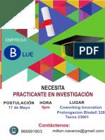 Perfil de Postulante Para Blue Tesis - Tacna