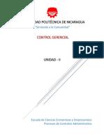 Unidad-II; Procesos de Control Administrativo