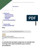 A Entrada Das Grandes Empresas No Mundo Das Startups Abre Oportunidades Para Muitos Investidores - Blog Do Empreendedor - Estadao.com.Br