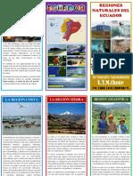 Triptico REGIONES NATURALES Ecuador