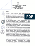 RESOLUCIÓN ADMINISTRATIVA N° 1082-2017-P-CSJPU-PJ.