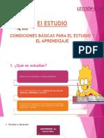 Condiciones Basicas Para El Estudio y El Aprendizaje