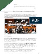 14/Mayo/2019 Aprueba Senado reformas para que mujeres tengan la misma participación política que hombres